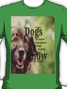 Emily Dickinson Dogs T-Shirt