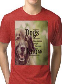 Emily Dickinson Dogs Tri-blend T-Shirt