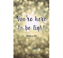 Matthew 5:19 Photographic Print