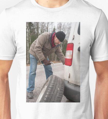 Flat Tire Unisex T-Shirt