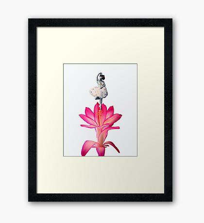 FLOWER DANCER  Framed Print