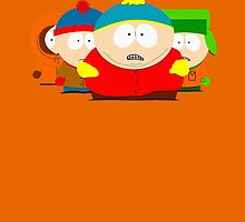 Cartman , Kyle , Stan and Kenny by Oppaiking