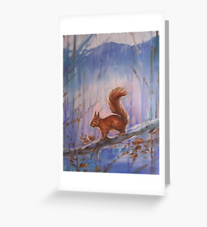 Little Red Squirrel Greeting Card