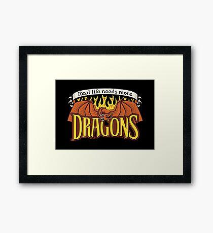 More Dragons Framed Print