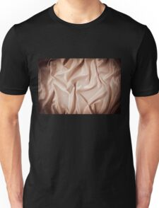 Beige glossy crumpled satin surface  Unisex T-Shirt