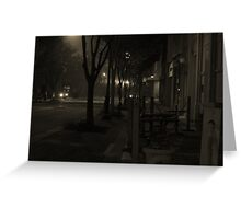 Foggy Night in the Twin City Greeting Card