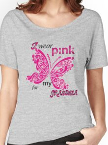 I Wear Pink For My Grandma Women's Relaxed Fit T-Shirt