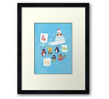 Penguins & Igloos Holiday Card Framed Print