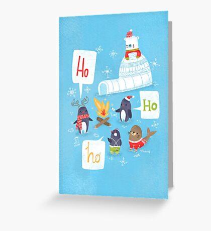 Penguins & Igloos Holiday Card Greeting Card