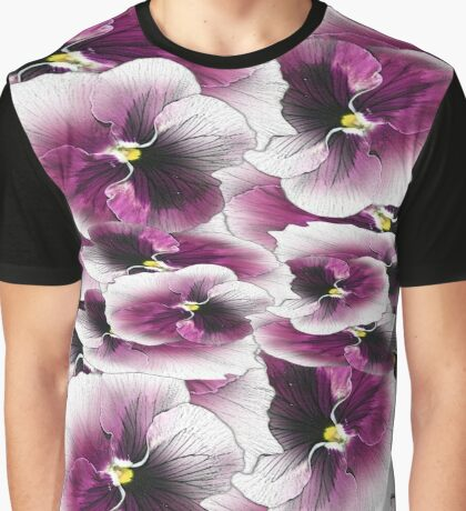 Purple Pansy Pattern #3 Graphic T-Shirt