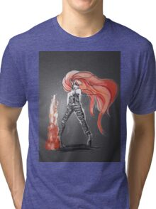Rainbow Punk: Flame Funk Tri-blend T-Shirt