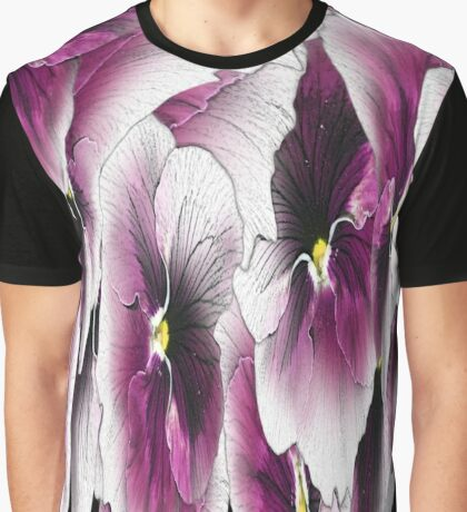 Purple Pansy Pattern #2 Graphic T-Shirt