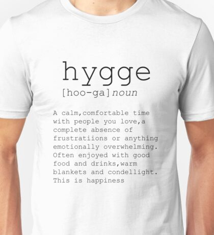 Typography Print Dictionary Print Hygge Definition Printable Poster Funny Wall Art Printable Decor Teen Room Funny Definition Word Decor Unisex T-Shirt