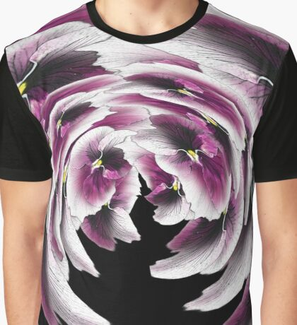 Purple Pansy Pattern #1 Graphic T-Shirt