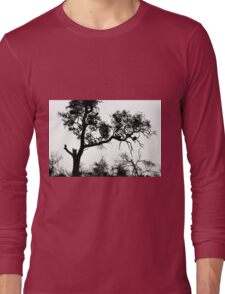 African White-backed Vultures in Silhouette Long Sleeve T-Shirt