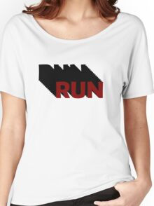 Run Forrest Run Inspirational Movie Quotes Motivational Gym Sports Women's Relaxed Fit T-Shirt