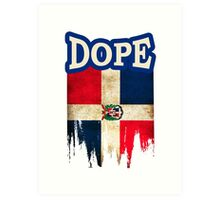 Dominican Flag Art Print