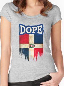 Dominican Flag Women's Fitted Scoop T-Shirt