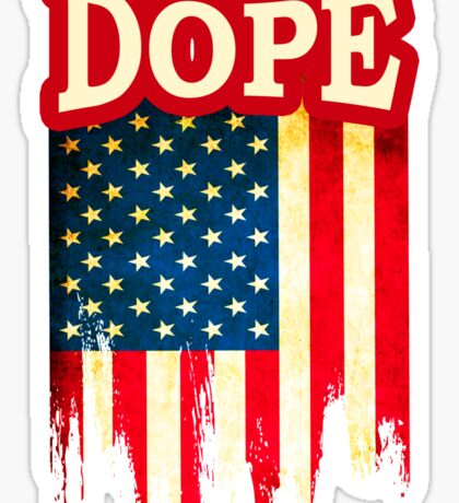 Usa Dope Sticker