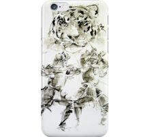 Japanese ideas for men, tiger samurai wariorr art print iPhone Case/Skin