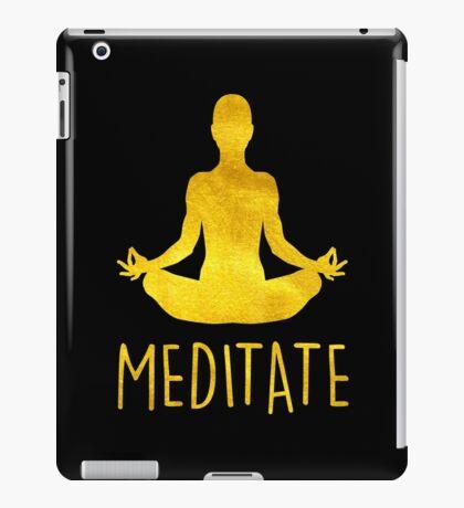 YOGA. MEDITATE. iPad Case/Skin