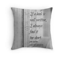 Jane Austen Book Throw Pillow