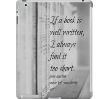 Jane Austen Book iPad Case/Skin