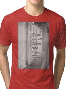 Jane Austen Book Tri-blend T-Shirt