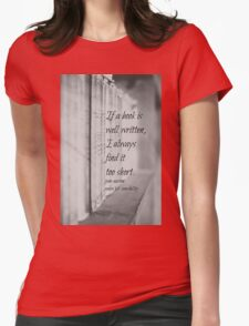 Jane Austen Book Womens Fitted T-Shirt