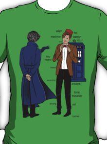Sherlock meets the Doctor T-Shirt