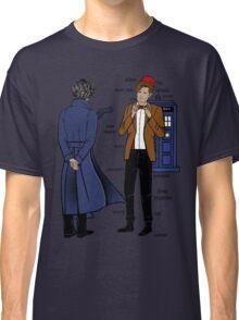 Sherlock meets the Doctor Classic T-Shirt