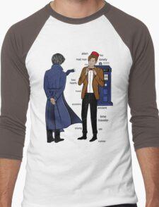 Sherlock meets the Doctor Men's Baseball ¾ T-Shirt