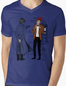 Sherlock meets the Doctor Mens V-Neck T-Shirt