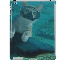 Diving cat iPad Case/Skin