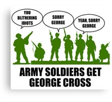 Army Soldiers Get George Cross Canvas Print