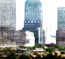 Canary Wharf Skyline Sticker