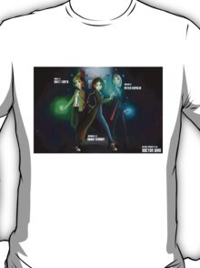 Group Doctor Who (Capadi, Smith, Tennant) Vs Disney Princess (Raiponce, Mulan, Ariel) T-Shirt