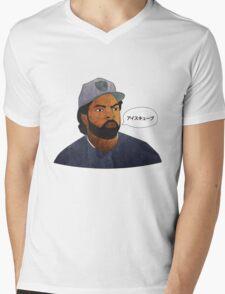 ICE CUBE is Aisukyūbu Mens V-Neck T-Shirt