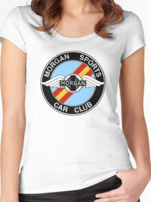 Morgan Sports Car Club Spain Colors Women's Fitted Scoop T-Shirt