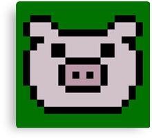Pig (8-bit / 16-bit / Pixelated) Canvas Print