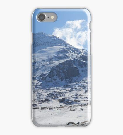 Tryfan in the snow iPhone Case/Skin