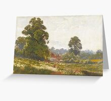 George Pontin NBA (fl.  Landscape with figures fishing Greeting Card