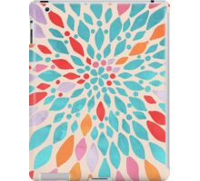 Radiant Dahlia - teal, orange, coral, pink watercolor pattern iPad Case/Skin