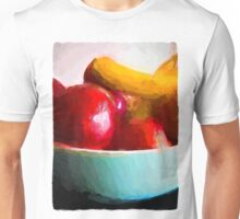 Red Apples in a Blue Bowl Unisex T-Shirt