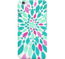 Radiant Dahlia 2 - mint, teal, magenta, pink watercolor pattern iPhone Case/Skin