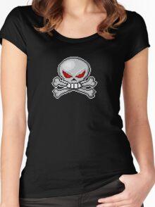 8 bit skull? Women's Fitted Scoop T-Shirt