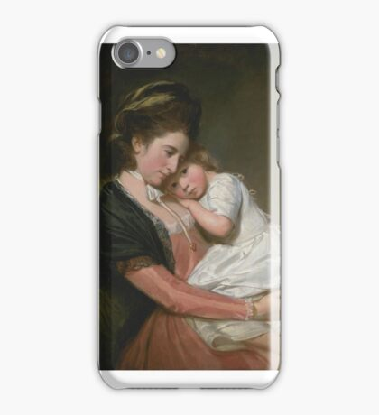 George Romney    Mrs Johnstone and her Son, iPhone Case/Skin