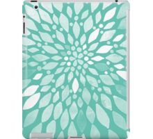 Radiant Dahlia in Teal and White iPad Case/Skin
