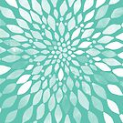 Radiant Dahlia in Teal and White by Tangerine-Tane