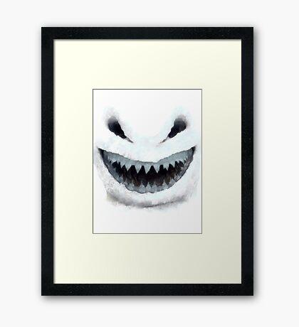 Doctor Who - Evil Snowman Framed Print